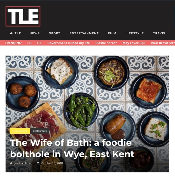 The Wife of Bath - a foodie bolthole in Wye East Kent